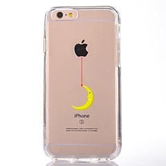 Недорогие Кейсы для iPhone 6-Кейс для Назначение Apple iPhone 7 Plus iPhone 7 Прозрачный С узором Кейс на заднюю панель Композиция с логотипом Apple Мягкий ТПУ для