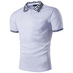 voordelige Herenpolo's-Heren Street chic Polo Geometrisch Overhemdkraag / Korte mouw