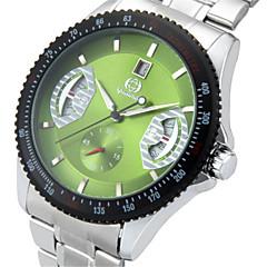 お買い得  メンズ腕時計-男性用 ファッションウォッチ ステンレス バンド カジュアル ブラック / シルバー