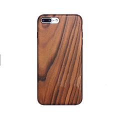 Недорогие Кейсы для iPhone 7 Plus-Для Чехлы панели Защита от удара IMD Ультратонкий Задняя крышка Кейс для Имитация дерева Твердый Дерево для AppleiPhone 7 Plus iPhone 7
