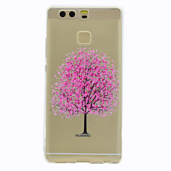Недорогие Чехлы и кейсы для Huawei Mate-Кейс для Назначение Huawei P9 / Huawei P9 Lite / Huawei Honor 5C Прозрачный / С узором Кейс на заднюю панель дерево Мягкий ТПУ для P10