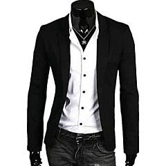 ieftine Blazer & Costume de Bărbați-Bărbați Zilnic Primăvară / Toamnă Regular Blazer, Mată În V Manșon Lung In Roz / Albastru Deschis / Gri Închis XL / XXL / XXXL / Ocazional afaceri / Zvelt