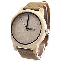 Damskie Modny Zegarek na nadgarstek Unikalne Kreatywne Watch Na codzień Zegarek Drewno Japoński Kwarcowy Kwarc japoński drewniany Skóra