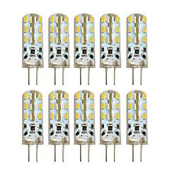 billige LED-lyspærer-HKV 10pcs 2W 100-200 lm G4 LED-lamper med G-sokkel T 24 leds SMD 3014 Varm hvid Kold hvid DC 12V AC 220-240V