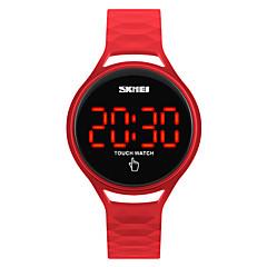 SKMEI Børn Sportsur Modeur Armbåndsur Digital Watch Japansk Digital LED Touchscreen Vandafvisende Silikone Bånd Sej Sort Blåt Rød Gul
