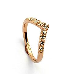 お買い得  指輪-女性用 バンドリング  -  クリスタル, イミテーションダイヤモンド, 合金 ハート, 幸福 誕生石です. 9 / 8½ / 9½ シルバー / ゴールデン 用途