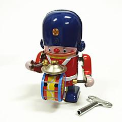 Wind-up Toy Robot Toys Machine Robot Drum Set Iron Metal 1 Pieces Children's Gift