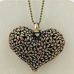 Ανδρικά Γυναικεία Κρεμαστά Κολιέ Κολιέ με Αλυσίδα Κοσμήματα Heart Shape Κουκουβάγια Κράμα Βασικό Μοναδικό Κρεμαστό Άνιμαλ Στρας Φύση