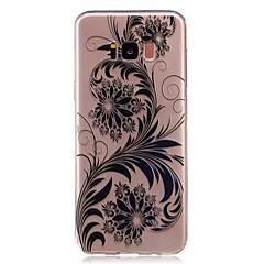 billige Galaxy S6 Edge Etuier-Etui Til Samsung Galaxy S8 Plus S8 Transparent Mønster Bagcover Blonde Tryk Blomst Blødt TPU for S8 S8 Plus S7 edge S7 S6 edge S6 S5