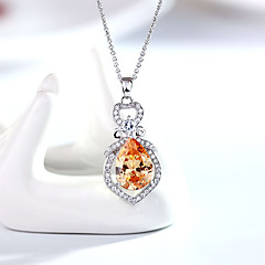 Women's Pendant Necklaces Crystal Chrome Fashion Personalized Euramerican Simple Style Jewelry For Wedding Party Congratulations