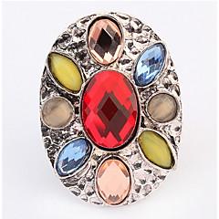 Women's Band Rings Ring Imitation Diamond Basic Unique Design Logo Style Rhinestone Geometric Classic Bohemian Elegant Punk Adorable