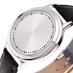 Men's Sport Watch Fashion Watch Unique Creative Watch Digital Watch Chinese Digital Luminous Leather Band Creative Casual Cool Black
