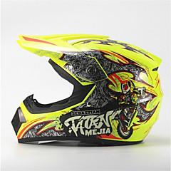 abordables Cascos para Moto-mejia off-road motocicleta racing casco lustre amarillo cara completa amortiguación duradera motorsport casco