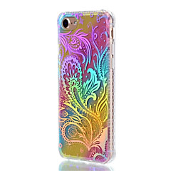 Για Apple iphone 7 συν 7 κάλυψη περίπτωση αδιάβροχο επίστρωση ημιδιαφανές μοτίβο πίσω κάλυμμα δαντέλα εκτύπωσης χρώμα κλίση λουλούδι