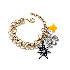 Naisten Amuletti-rannekorut Friendship Muoti Metalliseos Star Shape Riippua MOON Korut Varten 1kpl