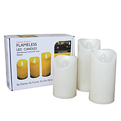 preiswerte Ausgefallene LED-Beleuchtung-3 Stück Kerzenlicht Batterie Größe S