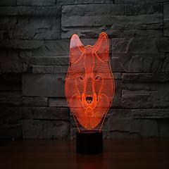 Az új 2017 farkasok 3 d lámpa 7 színes érintőképernyős tölthető led látható fény vetítő lámpa érintés lámpák