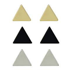 女性用 スタッドピアス ユニーク ベーシック パーティー 日常 カジュアル 合金 三角形 イヤリング・ピアス
