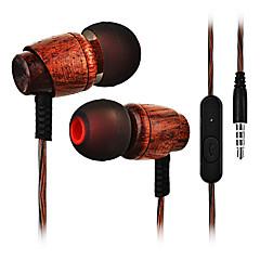 preiswerte Headsets und Kopfhörer-Cwxuan Im Ohr Mit Kabel Kopfhörer Holz Handy Kopfhörer Mit Mikrofon Headset