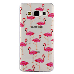 hoesje Voor Samsung Galaxy A5(2017) A3(2017) Transparant Reliëfopdruk Patroon Achterkantje Flamingo Zacht TPU voor A3 (2017) A5 (2017) A5