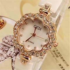お買い得  レディース腕時計-女性用 ファッションウォッチ 模造ダイヤモンド セラミック バンド アイボリー