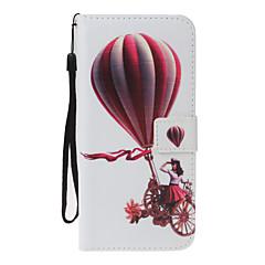Dla huawei p10 lite p8 lite (2017) pokrowiec na etui pokrowiec na portfel z podstawą na klapkę walizkę pełny pokrowiec na balon twardy pu