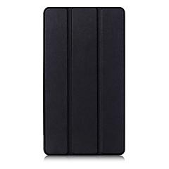 preiswerte Tablet-Hüllen-Hülle Für Lenovo Lenovo Tab 3 7 Plus TB-7703F / X Einfarbig Ganzkörper-Gehäuse / Tablet-Hüllen Volltonfarbe Hart PU-Leder für Lenovo Tab 3 7 Plus TB-7703F / X