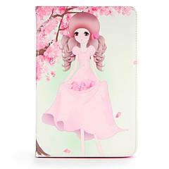 baratos Escolhas da Moda-Capinha Para Apple iPad 4/3/2 iPad Air 2 iPad Air Com Suporte Flip Estampada Capa Proteção Completa Mulher Sensual Rígida PU Leather para