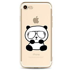 Для яблока iphone 7 7 плюс 6s 6 плюс крышка случая покрывает картину panda покрашенное высокое проникание материал tpu мягкий случай
