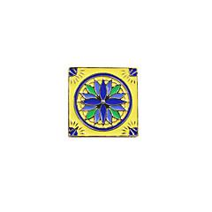 Недорогие Женские украшения-Жен. Броши - Уникальный дизайн / Богемные / Квадрат Квадратный Синий -Желтый / Белый / Черный / Тёмно-синий Брошь Назначение Свадьба /