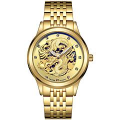 Tevise Heren Voor Stel Sporthorloge Skeleton horloge Modieus horloge mechanische horloges Kwarts Automatisch opwindmechanismeKalender