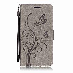 Для huawei p10 lite p10 pu кожа материал бабочка цветы узор сплошной цвет телефон кейс p8 lite (2017) y6