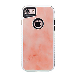 Недорогие Кейсы для iPhone 6-Кейс для Назначение Apple iPhone 7 Plus iPhone 7 Защита от удара С узором Кейс на заднюю панель Мрамор Твердый ПК для iPhone 7 Plus