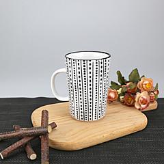 Minimalizm Parti Bardak Takımı, 340 ml Basit Geometrik Desen Yeniden kullanılabilir Porselen Çay ÇıplakGünlük Bardaklar Çay Fincanları