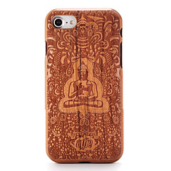Для Чехлы панели Рельефный С узором Задняя крышка Кейс для Мультяшная тематика Твердый Дерево для AppleiPhone 7 Plus iPhone 7 iPhone 6s