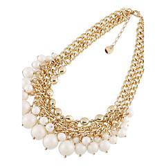 preiswerte Halsketten-Damen Stränge Halsketten Künstliche Perle individualisiert Euramerican Simple Style Modeschmuck Schmuck Für Hochzeit Party