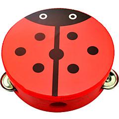 abordables Juguetes Musicales-Pandereta Instrumentos musicales de juguete Circular Unisex