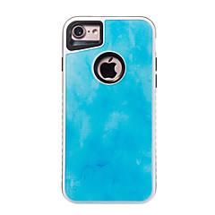 Недорогие Кейсы для iPhone 5-Для iphone 7 7 плюс крышка корпуса противоударная модель задняя крышка чехол мраморный жесткий ПК для 6s 6 плюс 6s 6 se 5s 5