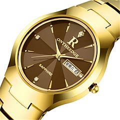 tanie Promocje zegarków-Męskie Modny Kwarcowy Kalendarz Stop Pasmo Urok Czarny Srebro Złoty