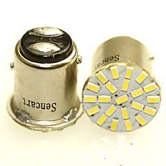 baratos -Sencart 2 x 1157 ba15d p21 / 5w 22x3014smd conduziu auto auto lado da cauda luzes indicadoras estacionamento lâmpada bulbo whitedc12v