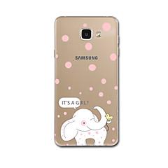 tok Για Samsung Galaxy A7(2017) A5(2017) Εξαιρετικά λεπτή Με σχέδια Πίσω Κάλυμμα Ελέφαντας Μαλακή TPU για A5 (2017) A7 (2017) A7(2016)