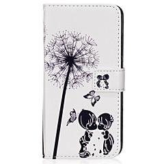 tanie Galaxy S6 Etui / Pokrowce-Kılıf Na Samsung Galaxy S8 Plus S8 Portfel Etui na karty Z podpórką Flip Wzór Magnetyczne Futerał Mniszek lekarski Twarde Sztuczna skóra