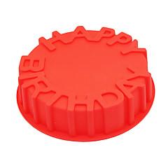 1 bageform Bogstaver Til Kage Til Chokolade til brød Til Tærte SilikonegummiGør Det Selv 3D Høj kvalitet Nonstick Miljøvenlig Fødselsdag