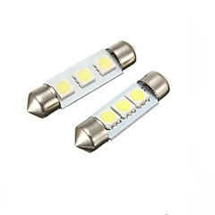 2w 36mm festoon 3led smd5050 dc12v placă de înmatriculare dome interior lumina led lampă auto condus bec 2pcs