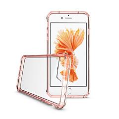Недорогие Кейсы для iPhone 6-Кейс для Назначение Apple iPhone 7 Plus iPhone 7 Ультратонкий Полупрозрачный Прозрачный Кейс на заднюю панель Сплошной цвет другое