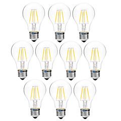 お買い得  LED 電球-BRELONG® 10個 4W 300lm E27 フィラメントタイプLED電球 A60(A19) 4 LEDビーズ COB 調光可能 温白色 ホワイト 200-240V