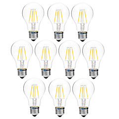 4W E27 LED Filament Bulbs A60(A19) 4 COB 300 lm Warm White White 3000-3500  6000-6500 K Dimmable V