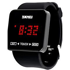 Herre Sportsur Kjoleur Smartur Modeur Armbåndsur Unik Creative Watch Kinesisk Digital Kronograf Stor urskive Silikone Bånd Vedhæng