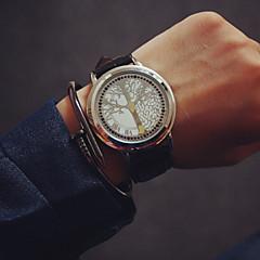 voordelige Horloges voor stelletjes-Heren Dames Voor Stel Modieus horloge Sporthorloge Digitaal Aanraakscherm Leer Band Meerkleurig
