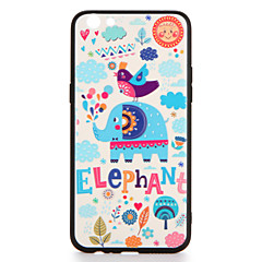 Voor oppo r9s r9s plus case cover patroon achterkant hoesje olifant harde pc r9 r9 plus